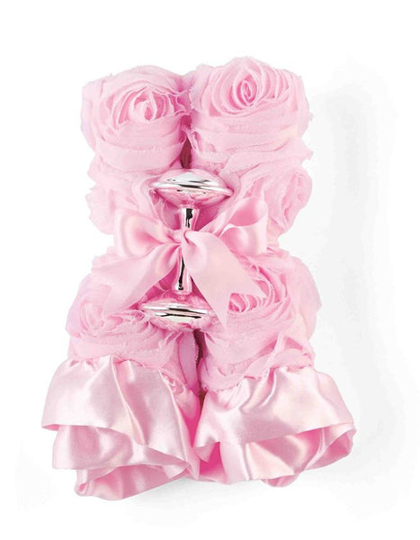 Pink Woobie and SIlver Rattle Gift Set