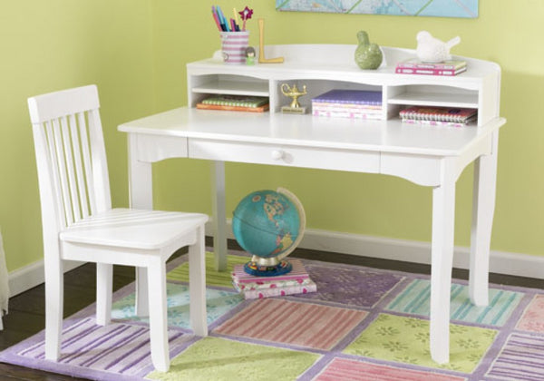 Kidkraft - Desk w/Hutch - White