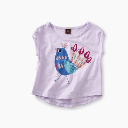 Tea Collection - Peacock Graphic Baby Tee*^