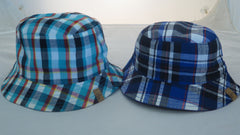 Aardvark - Boys Navy/Plaid Reversible Bucket Hat**