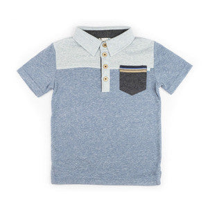 Fore!! Axel & Hudson - Short Sleeve Colorblock Slub Polo
