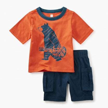 Tea Collection - Band Bear Baby Outfit**