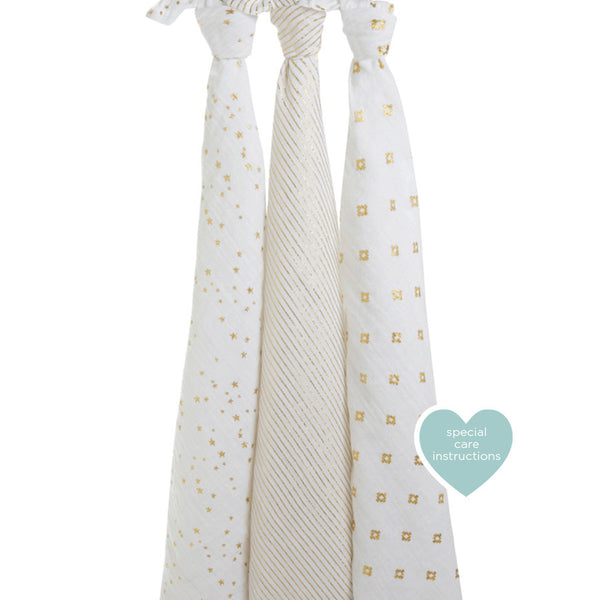 aden + anais - 3 pack Swaddles*