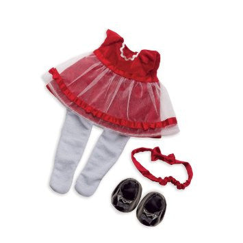 Manhattan Toy - Baby Stella Fanciful Frills Holiday Dress