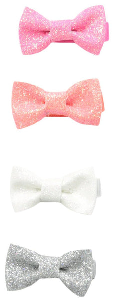 Glitter Bow and Clips