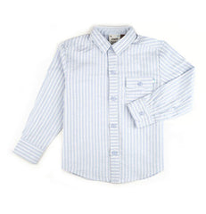 Fore!! Axel & Hudson - Long Sleeve Stripe Linen Roll Cuff Shirt