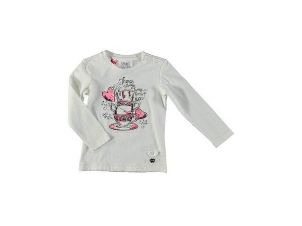 Le Chic -  Baby Shirt w/Graphic (Tea Cups) Design **