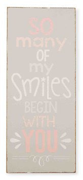 So Many Smiles Pink Plaque