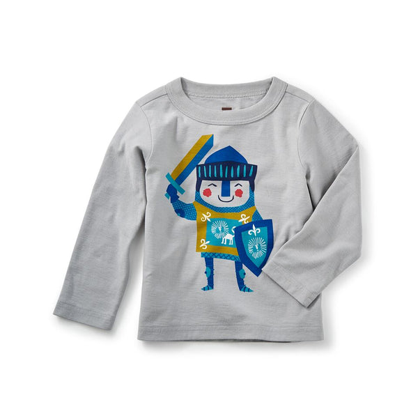 Tea Collection - Little Knight Graphic Baby Tee**