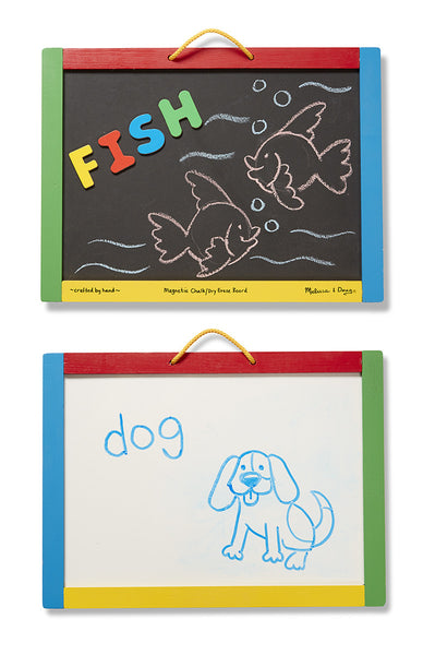 Melissa and Doug Magnetic Chalkboard/Dry-Erase Board