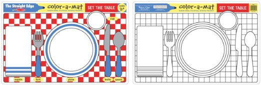 Melissa & Doug  - Set The Table Color-A-Mat