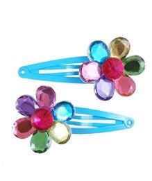 CE- Flower Gem Hairclips