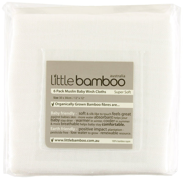 Little Bamboo - Muslin Baby Wash Cloths