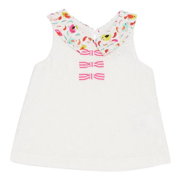 Deux par Deux -  Featherly Friends Girls Sleeveless Top**