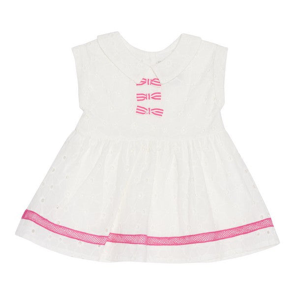 Deux par Deux - Featherly Friends Girls Cotton Dress**