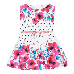 Deux par Deux - C'est le Bouquet Tween Printed Dress*