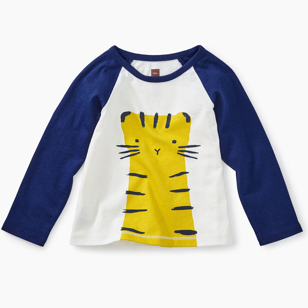 Tea Collection - Tiger Raglan Graphic Baby Tee*