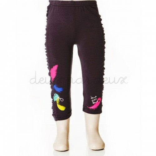 Deux par Deux - Printed Legging (feather)**