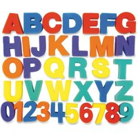 60 Piece Paint Sponge Set: Letters, Numbers and Shapes