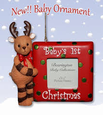 Bearington - Baby 1st Christmas Photo Frame Ornament*