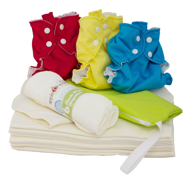 AppleCheeks - Bamboo Cloth Diaper Starter Kit