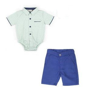 Fore!! Axel & Hudson - Short Sleeve Arrow Print Onesie & Shorts Set
