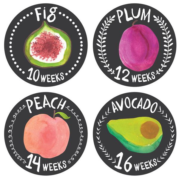 Lucy Darling - Growing Garden Pregnancy Belly Stickers