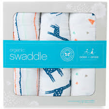 aden + anais -Organic 3 pack Swaddles