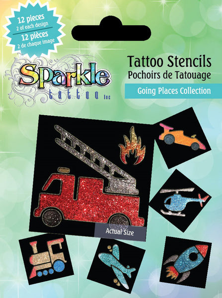 Sparkle Tattoo Going Places Stencils