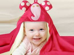 3 Sprouts - Hooded Towel Pink Elephant