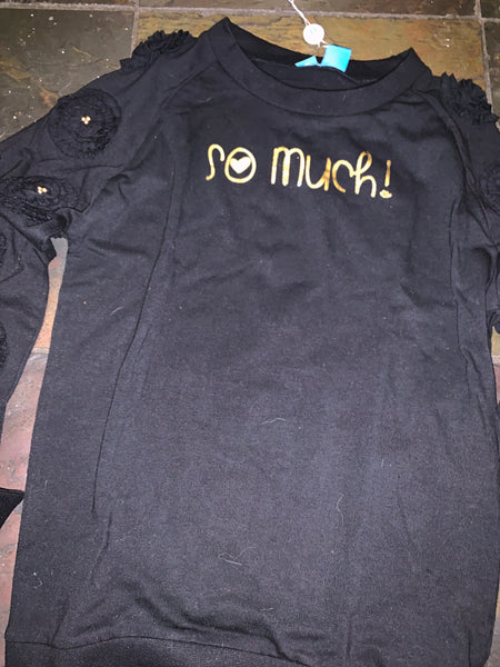 Blu - Black  Top with Gold Lettering on front*^