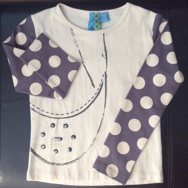 Blu - Long Sleeve Tee with Ballet Shoe Graphic*^