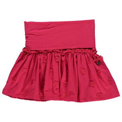 Le Chic - Raspberry Skirt w/ Flowers**