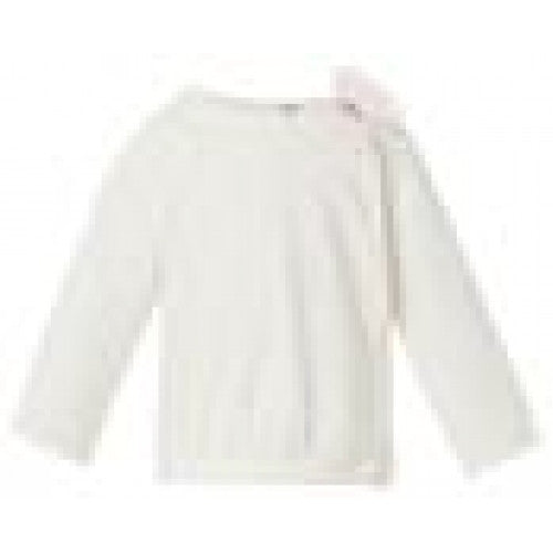 Noppies - Baby Girls Tee Long Sleeve Off White w/ Bow