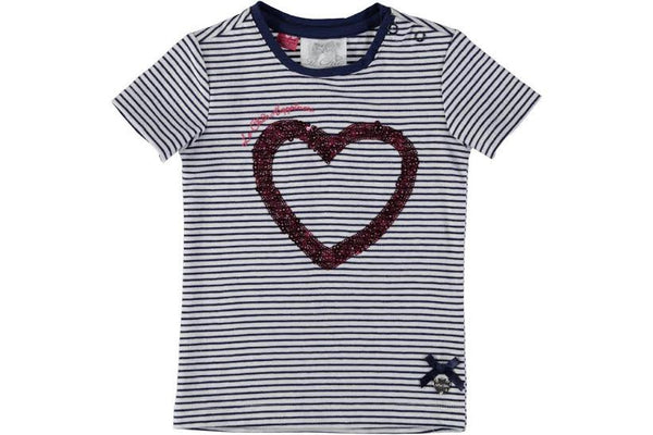 Le Chic - Striped Baby Top w/ Red Heart*^
