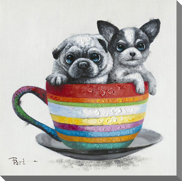 Streamline - Pug & Pup in Cup Artwork