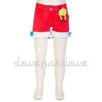 Deux par Deux - In the Loop Red Shorts*^
