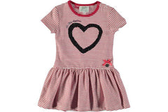 Le Chic - Striped Dress w/ Sequin Heart