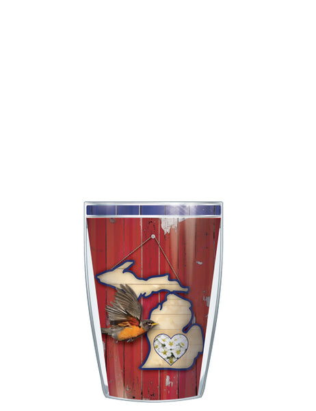 Michigan State Bird & Flower Tumbler