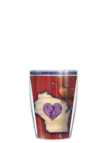 Wisconsin State Bird & Flower Tumbler