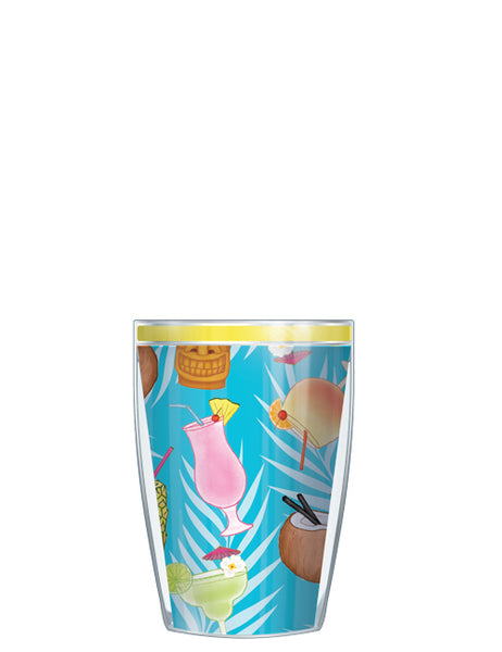 Tropical Cocktails On Blue Tumbler