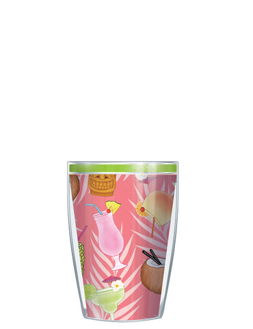 Tropical Cocktails On Pink Tumbler