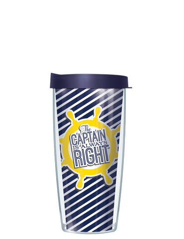 Yellow The Captain is Always Right Tumbler - Signature Tumblers - Tumbler -  - 2