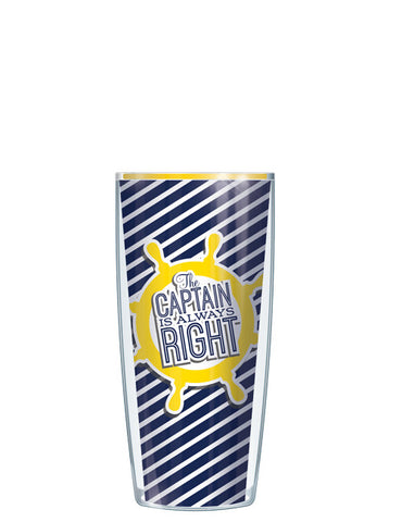 Yellow The Captain is Always Right Tumbler - Signature Tumblers - Tumbler -  - 1