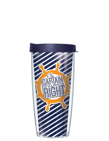 Gold The Captain is Always Right Tumbler - Signature Tumblers - Tumbler -  - 2