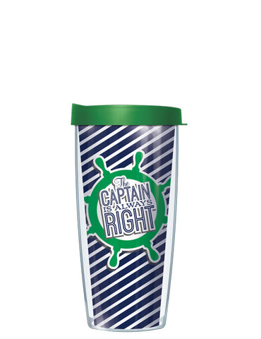 Green The Captain is Always Right Tumbler - Signature Tumblers - Tumbler -  - 2