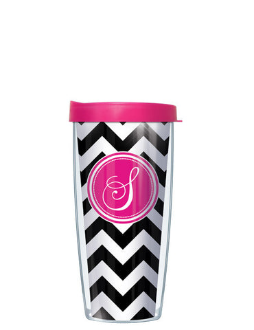 Single Letter Chevron Black - Signature Tumblers - Tumbler -  - 2