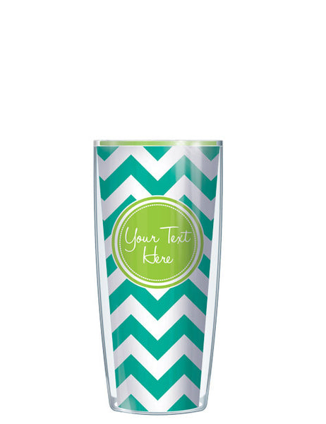 Personalized Text With Font Option Pop Chevron Teal - Signature Tumblers - Tumbler -  - 1