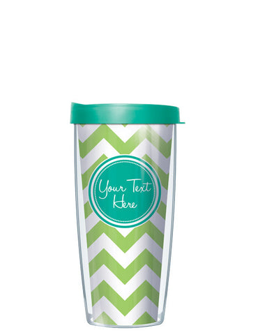 Personalized Text With Font Option Pop Chevron Lime - Signature Tumblers - Tumbler -  - 2