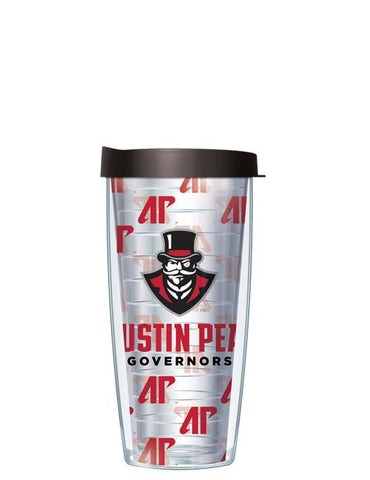 Austin Peay State University - Repeat Logo on Clear Pattern
